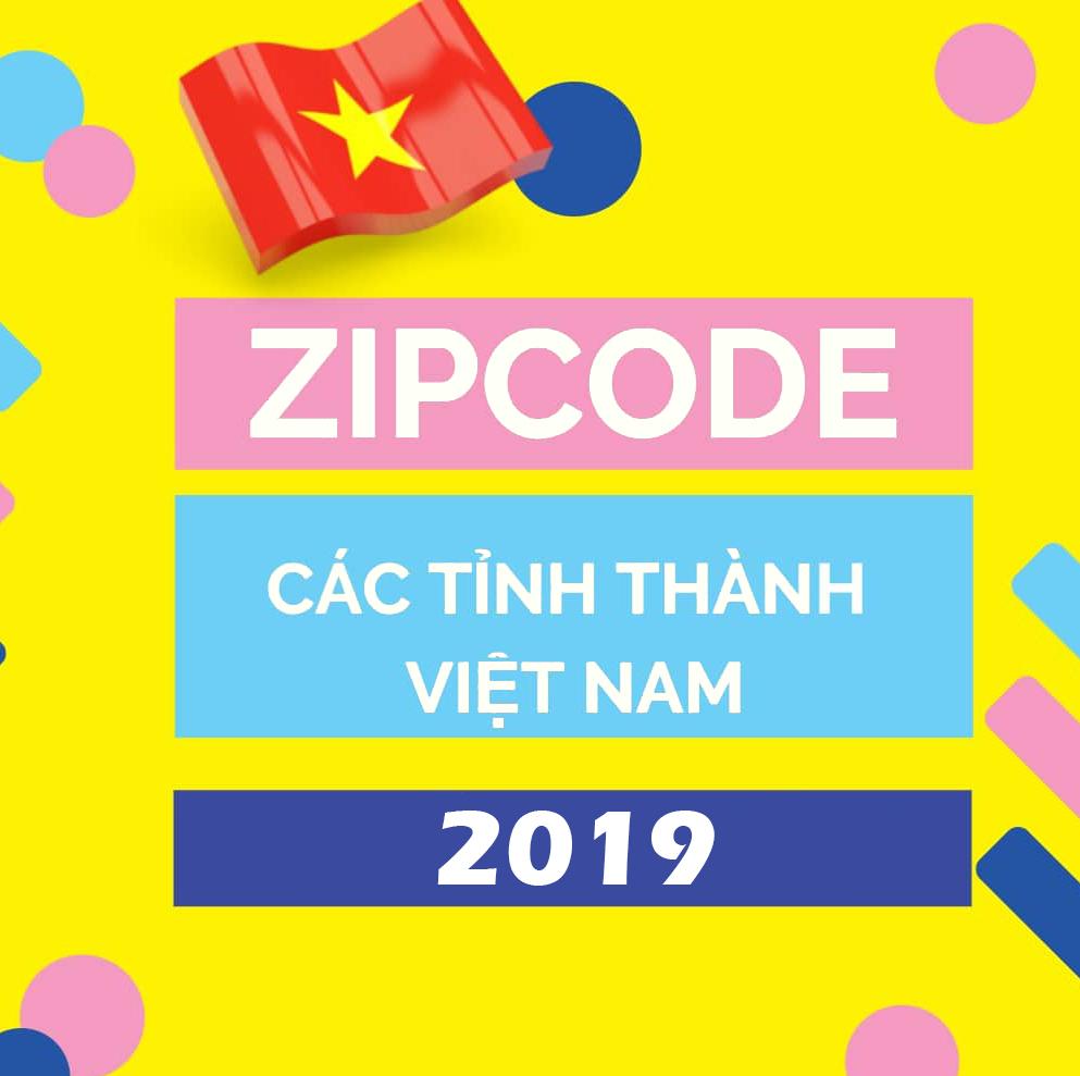 Mã bưu chính 63 tỉnh thành Việt Nam (Zip Postal Code)  [Updated 2019]
