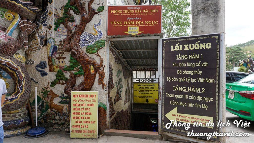 Lối đi vào 18 tầng địa ngục ở Chùa Linh Phước Đà Lạt