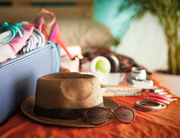 Chuẩn bị hành lý khi đi du lịch