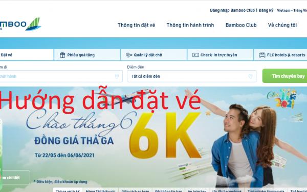 Cách mua vé máy bay Bamboo Airways và thanh toán online 2021
